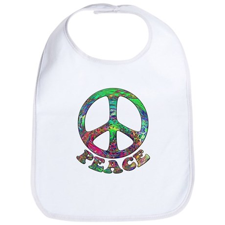 Swirling Peace Bib