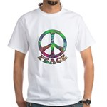 Swirling Peace White T-Shirt