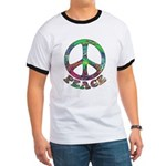 Swirling Peace Ringer T