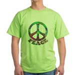 Swirling Peace Green T-Shirt
