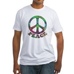 Swirling Peace Fitted T-Shirt