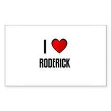 I LOVE RODERICK Rectangle Decal