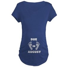 Due In August (black&white/belly) Maternity T