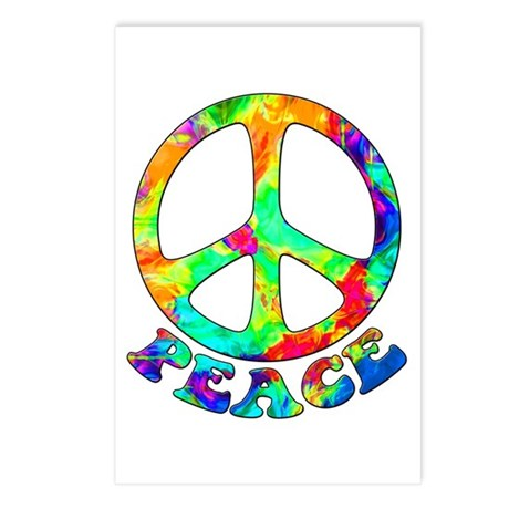 Rainbow Pool Peace Symbol Postcards (Package of 8)