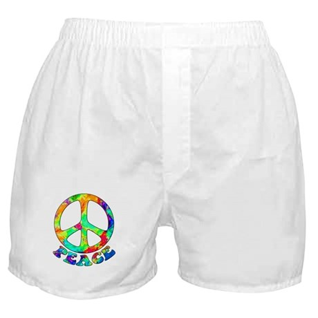 Rainbow Pool Peace Symbol Boxer Shorts