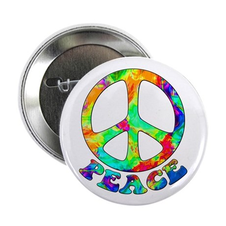 "Rainbow Pool Peace Symbol 2.25"" Button"