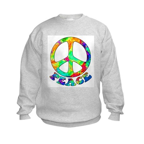 Rainbow Pool Peace Symbol Kids Sweatshirt