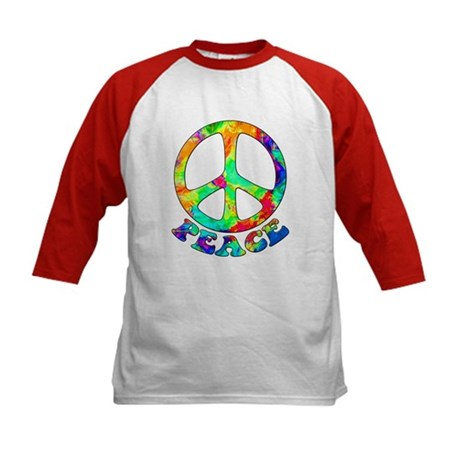 Rainbow Pool Peace Symbol Kids Baseball Jersey
