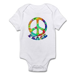 Rainbow Pool Peace Symbol Infant Bodysuit