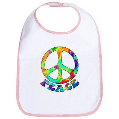 Rainbow Pool Peace Symbol Bib
