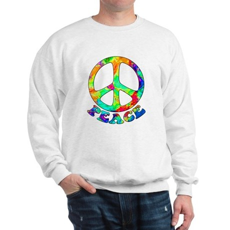 Rainbow Pool Peace Symbol Sweatshirt