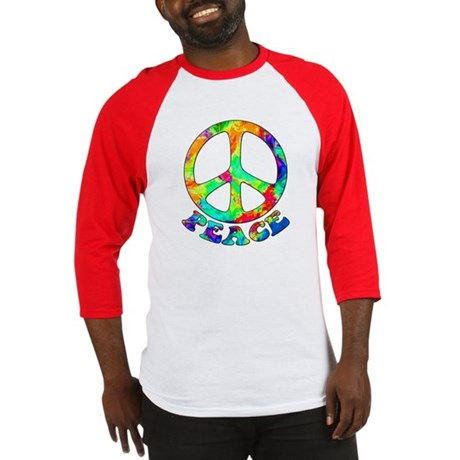 Rainbow Pool Peace Symbol Baseball Jersey