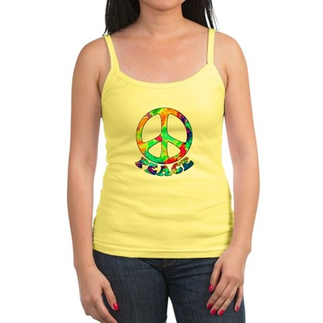 Rainbow Pool Peace Symbol Jr. Spaghetti Tank