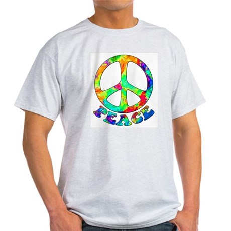 Rainbow Pool Peace Symbol Light T-Shirt