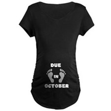 Due In October (belly) T-Shirt