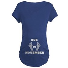 Due In November (belly) T-Shirt