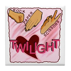 Twilight Rock Paper Scissors Tile Coaster