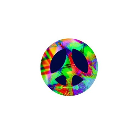 Bright Color Peace Mini Button (100 pack)