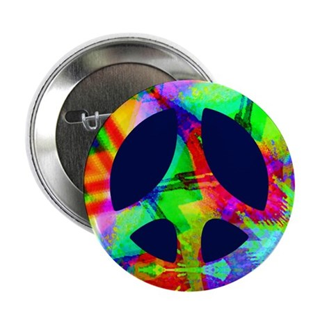 Bright Color Peace Button
