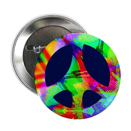 "Bright Color Peace 2.25"" Button (10 pack)"