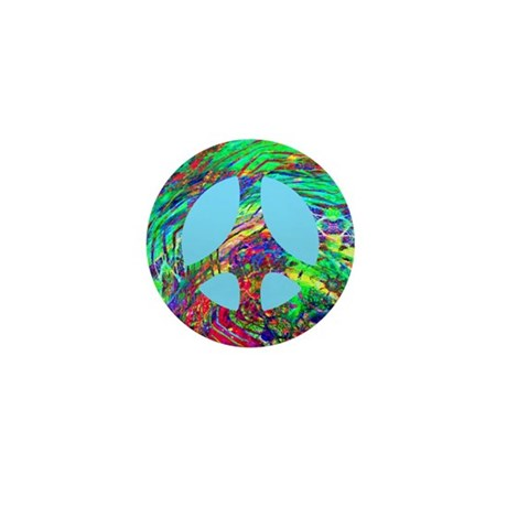 Cosmic Swirl Peace Mini Button