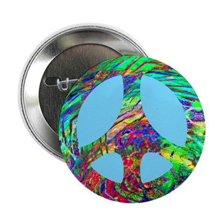 Cosmic Swirl Peace Button