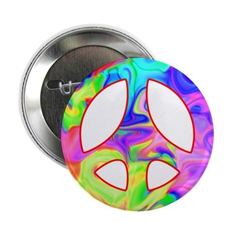 "Groovy Peace Symbol 2.25"" Button (10 pack)"