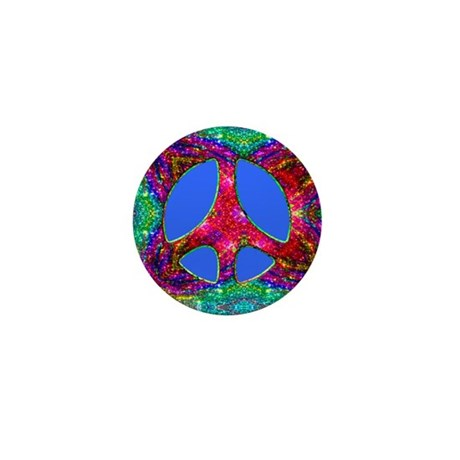 Jewelled Peace Mini Button