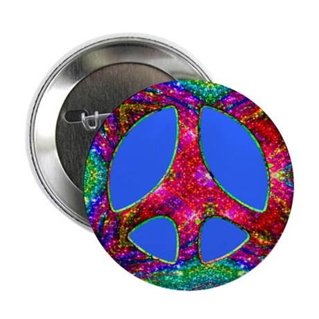 Jewelled Peace Button