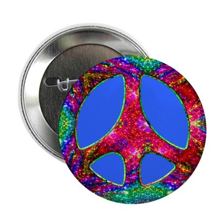 "Jewelled Peace 2.25"" Button (10 pack)"