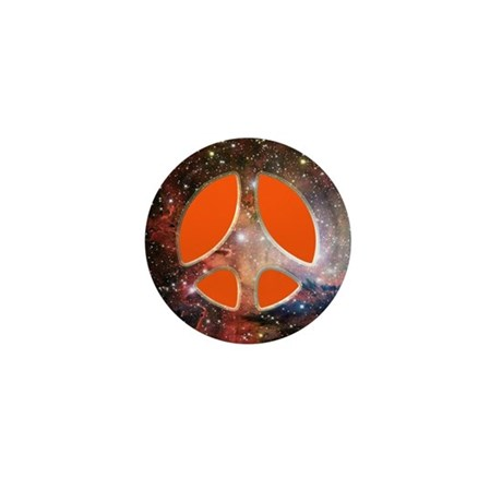 Galactic Peace (Orange) Mini Button