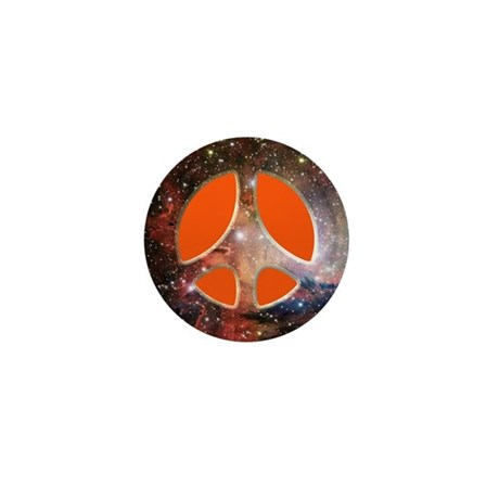 Galactic Peace (Orange) Mini Button (100 pack)