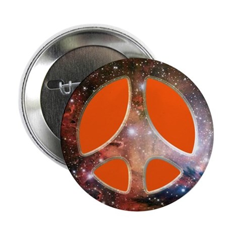 "Galactic Peace (Orange) 2.25"" Button (100 pack)"