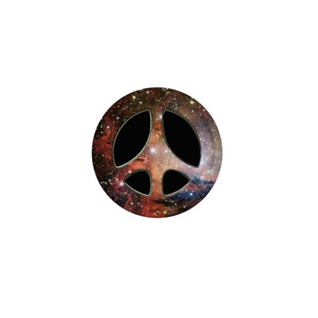 Galactic Peace Symbol Mini Button