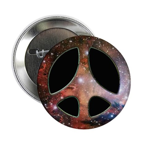 Galactic Peace Symbol Button