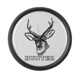 Deer Hunter Large Wall Clock