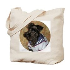 Unique Black miniature schnauzer Tote Bag