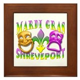 Mardi Gras Shreveport Framed Tile