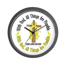With God Cross LIVER CANCER Wall Clock