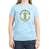 With God Cross LIVER CANCER T-Shirt