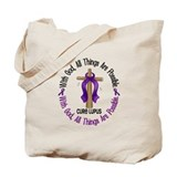With God Cross LUPUS Tote Bag