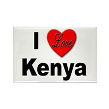I Love Kenya Rectangle Magnet (10 pack)