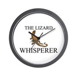 The Lizard Whisperer Wall Clock