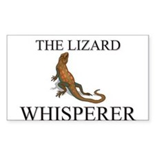The Lizard Whisperer Rectangle Decal