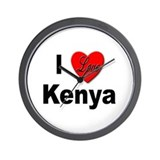 I Love Kenya Wall Clock