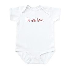 I'm new here Infant Bodysuit