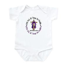 With God Cross PANCANC Infant Bodysuit