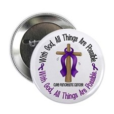 "With God Cross PANCANC 2.25"" Button (10 pack)"
