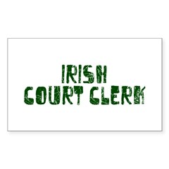 Irish Court Clerk Rectangle Sticker