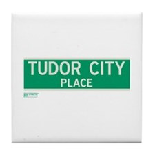Tudor City Place in NY Tile Coaster